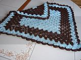 Powder Blue and Chocolate Brown